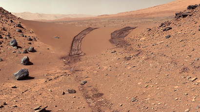 A photo of Mars dunes taken by NASA's Curiosity rover on February 19, 2014 (NASA/JPL-Caltech/MSSS)