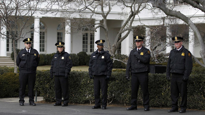 Uniformed Secret Service members are pictured at the West Wing of the White House (Reuters/Jason Reed)