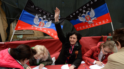 Self-proclaimed Lugansk People's Republic elects head, passes constitution