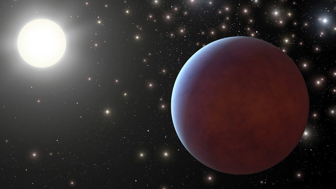 Gas giant at distant sun found to have 80,000-yr orbit
