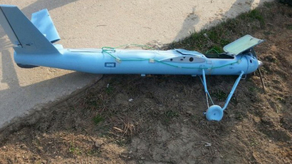 (FILES) This handout file photo released by South Korea's Defence Ministry on April 2, 2014 shows a crashed drone found on March 31, 2014 at Baengnyeong island near the disputed waters of the Yellow Sea. (AFP Photo)