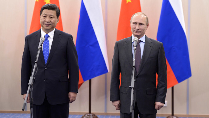 Russia's President Vladimir Putin (R) and his Chinese couterpart Xi Jinping.(AFP PHOTO  / Alexei Nikolsky)