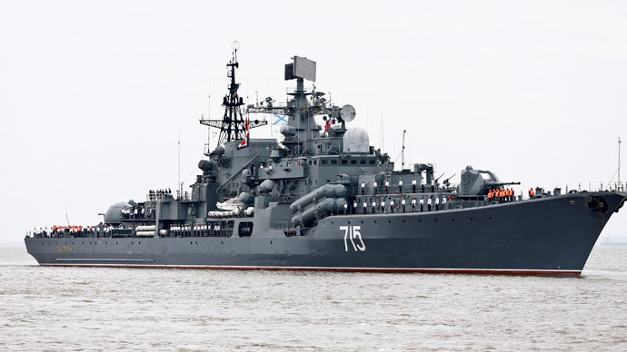 Russian battleships in Shanghai for joint naval drills
