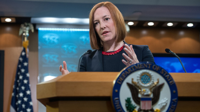 US State Department spokeswoman Jen Psaki (AFP Photo / Nicholas Kamm)