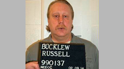 Death row inmate Russell Bucklew is shown in this Missouri Department of Corrections photo taken on February 9, 2014. (Reuters/Missouri Department of Corrections)