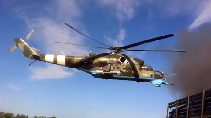 ​Donetsk bloodbath: Insider video shows Ukraine helicopters firing at own checkpoint