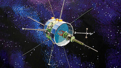 This artist's concept obtained from NASA shows the International Sun-Earth Explorer, or ISEE-3, built in 1978 to study the physics of solar winds. (AFP/NASA)