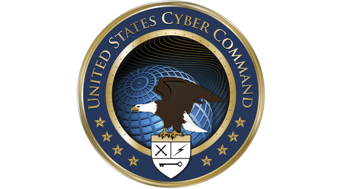 Logo for the The US Cyber Command (AFP Photo / HO / DoD)