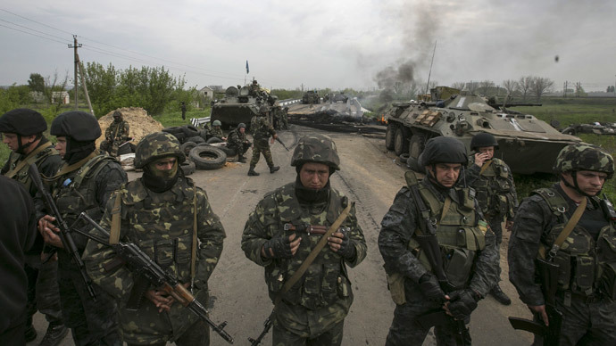 14 military killed in chopper downed in E. Ukraine - acting president