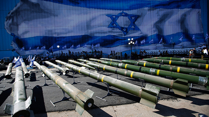 M302 rockets found aboard the Klos C ship are displayed at an Israeli navy base in the Red Sea resort city of Eilat March 10, 2014 (Reuters / Amir Cohen)