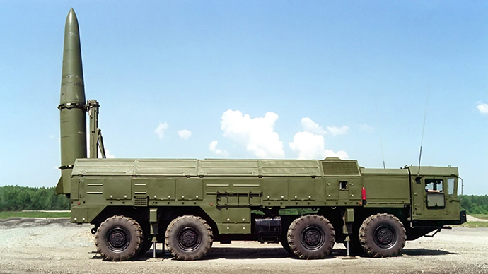 An Iskander-E short-range ballistic missile launcher (RIA Novosti / Photo courtesy of Russia's KBM Engineering Design Bureau based in Kolomna)