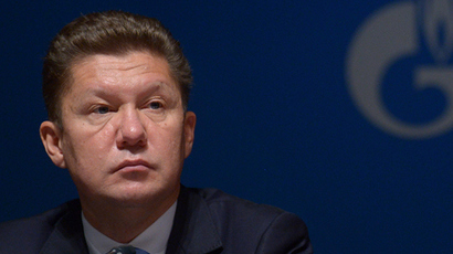 Chairman of Gazprom's Management Committee Alexey Miller (RIA Novosti /  Grigory Sisoev)