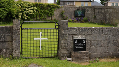 The entrance to the site of a mass grave of hundreds of children who died in the former Bons Secours home for unmarried mothers is seen in Tuam, County Galway June 4, 2014. (Reuters / Stringer)