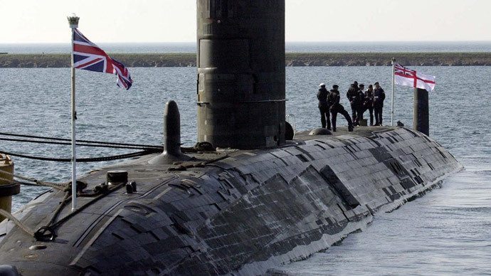 The nuclear powered submarine HMS Turbulent (AFP Photo / WPA Pool / Barry Batchelor)