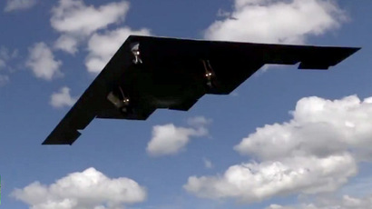 One of two B-2 Stealth Bombers deployed in Britain (Courtesy: Ben Ramsay)