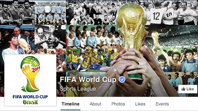 Screenshot from www.facebook.com/fifaworldcup