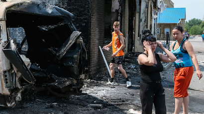 Fatalities as Kiev's military 'reclaim' first eastern city