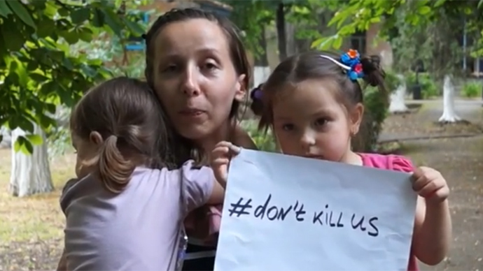 #Don't kill us: Refugees from Eastern Ukraine make a plea for peace (VIDEO)