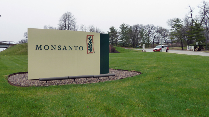The entrance sign is seen at the headquarters of Monsanto, at Creve Coeur (St. Louis), Missouri (AFP Photo / Juliette Michele)