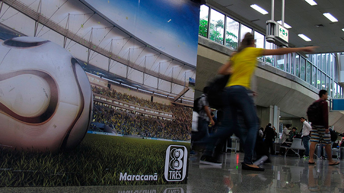 Rio's airport workers go on strike on the eve of World Cup opening