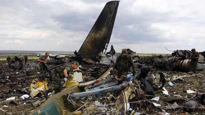 Self-defense forces in Gorlovka, E.Ukraine, claim shooting down Kiev bomber jet