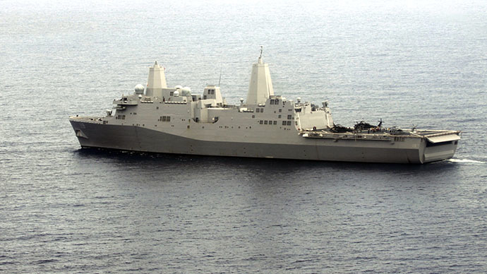 US warship with 550 Marines enters Persian Gulf