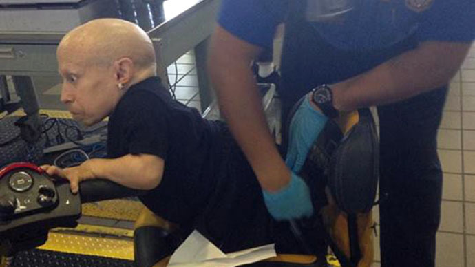 Austin Powers' Mini-Me gets special attention from the TSA