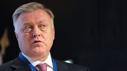The head of state-run monopoly Russian Railways Vladimir Yakunin (AFP Photo / Eric Piermont)
