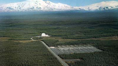 Aerial view of the High Frequency Active Auroral Research Program site (image by United States Federal Government)