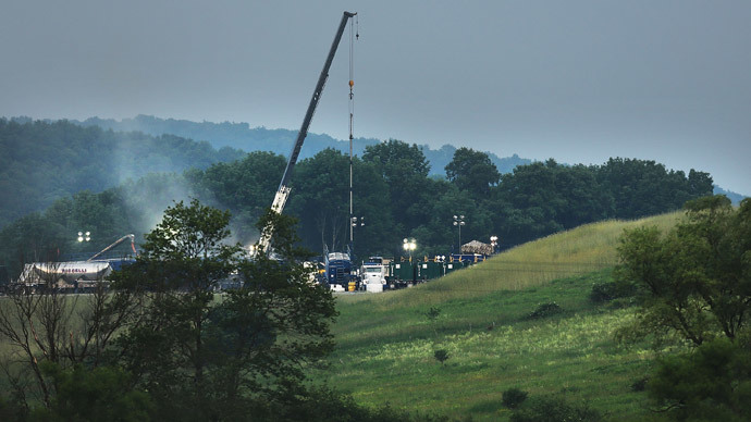 A hydraulic fracturing site in South Montrose, Pennsylvania. (Spencer Platt / Getty Images / AFP)
