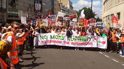 'No more austerity:' Thousands rally in London demanding alternative from govt