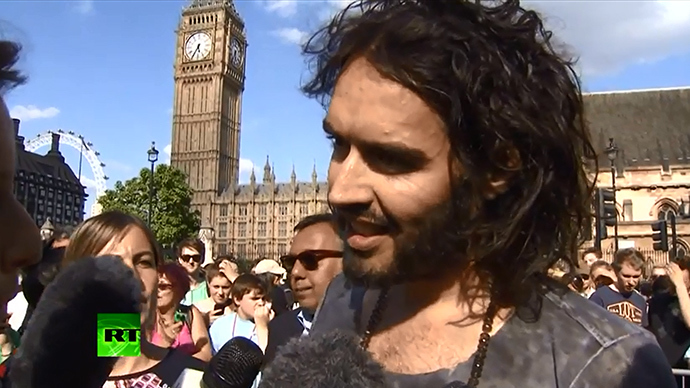 Russell Brand (Screenshot from RT video)