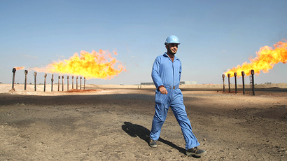 Barjisiya oil fields in Zubair One south west of the city of Basra, Iraq (AFP Photo)