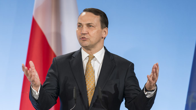 Poland's Foreign Minister Radoslaw Sikorski  (AFP Photo)