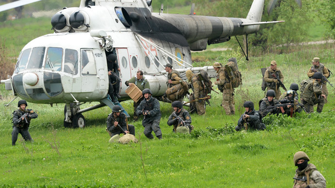 Militia down chopper near Slavyansk, 9 feared dead – military spokesman