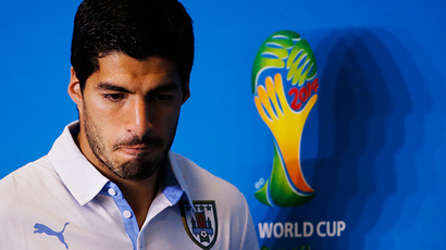 Uruguay's national soccer team player Luis Suarez (Reuters / Carlos Barria)