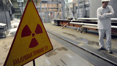A reactor is assembled in the normally occupied area of Unit BN-800 of the Beloyarsk Nuclear Power Station (BNPS) in Sverdlovsk Region (RIA Novosti / Pavel Lisitsyn)