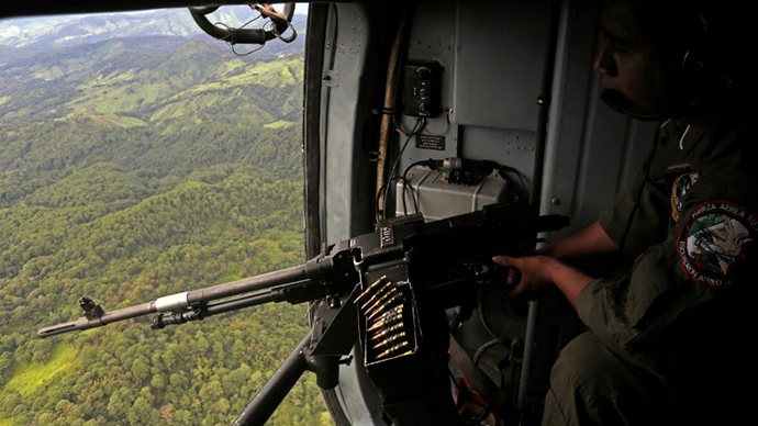 FILE photo. A Mexican Air Force helicopter (AFP Photo / Pedro Pardo)