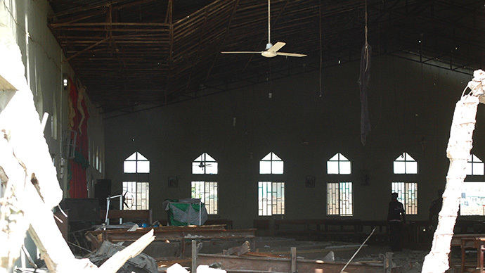 ARCHIVE PHOTO: A view of the inside of a church in Kaduna which was targeted by a suicide attacker who detonated a car filled with explosives, in Kaduna, Nigeria (AFP Photo / Stringer)