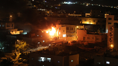 Israel launches counter-offensive on Gaza after rocket barrage fired from Strip