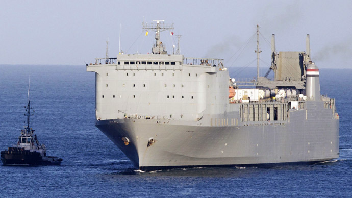The US cargo ship MV Cape Ray (AFP Photo/Mario Tosti)