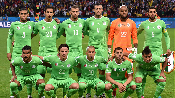 Algeria's national team (AFP Photo / Kirill Kudryavtsev)