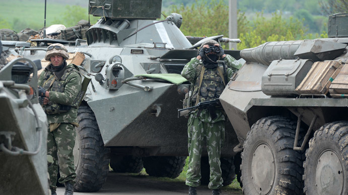 Ukrainian troops outside the town of Andreyevskoe near Slaviyansk, Donetsk Region (RIA Novosti/Mikhail Voskresenskiy)