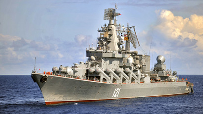 The Moskva guided missile cruiser, the flagship of Russia's Black Sea Fleet (RIA Novosti/Grigoriy Sisoev)