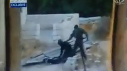 An image grab taken from a video uploaded on YouTube by user@Ali Abunimah