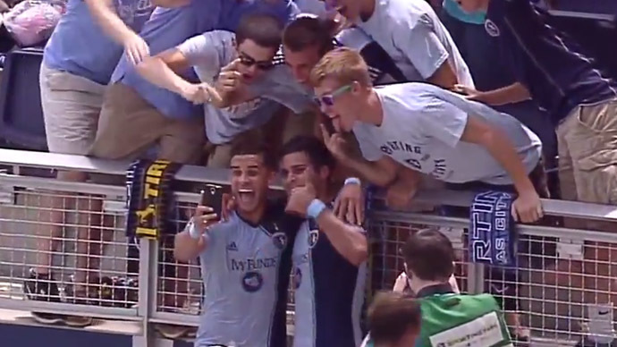 Yellow card for selfie: MLS striker punished after celebrating goal