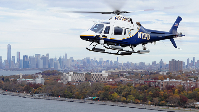 Drones nearly collide with NYPD helicopter, two arrested