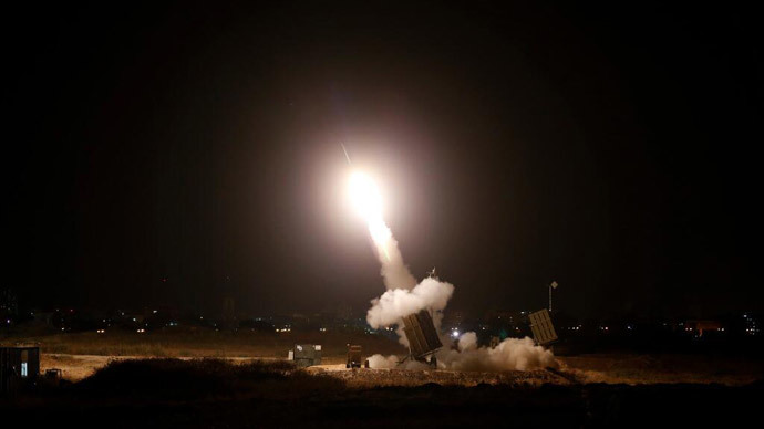 An Iron Dome launcher fires an interceptor rocket in the southern Israeli city of Ashdod July 8, 2014.(Reuters / Baz Ratner)