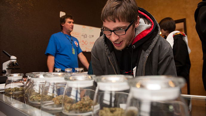 3-D Denver Discrete Dispensary in Denver, Colorado (AFP Photo / Theo Stroomer)
