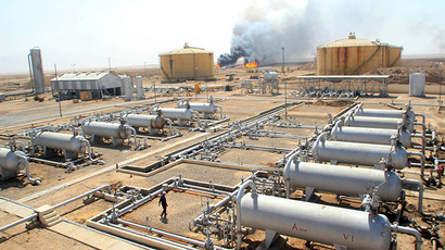 Oil refinery in the southern Rumaila area, Iraq (AFP Photo / Essam Al-Sudani)